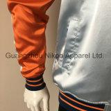 ボタンが付いている素晴らしい方法傾向の刺繍のトラのサテンのジャケット