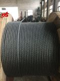 Corde 6X25fi de fil d'acier d'excavatrice