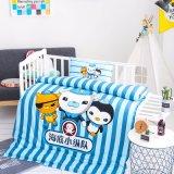 도매 귀여운 유기 면 침대 시트 세트 어린이 침대 누비이불 세트