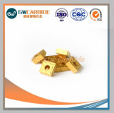 El carburo de tungsteno inserciones de gira con revestimiento PVD