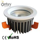 Ce RoHS aprobado abajo de la luz CREE COB techo 30W LED Downlight de aluminio