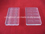 溝が付いているカスタマイズされた透過水晶ガラス板