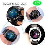 둥근 스크린 및 심박수 모니터 (K89)를 가진 Bluetooth 지능적인 시계
