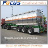 Usine 45-60cbm pétrolier du réservoir de carburant en aluminium//camion utilitaire semi-remorque