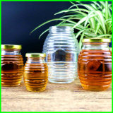 Barata de vidrio vacía de almacenamiento de miel de abeja Jar para la venta