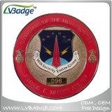 習慣米国の軍の平らな金属の挑戦硬貨