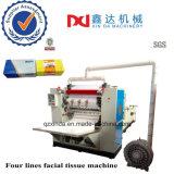 Tipo de cuadro de buen precio el corte de papel facial rostro estampado pañuelo de papel plegado de la máquina