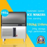 Autoportante máquina de hacer hielo en acero inoxidable (102 kg.)