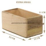 Organizador de anaquel de madera rústica Caja contenedor titular para la Cocina Cuarto de baño