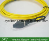 Sc-Str. mit schwarzer Faser optisches Patchcord Staubkappe-Inspektions-9/125 3.0mm LSZH