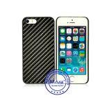 Cubierta del teléfono de diseño de moda de fibra de carbono recubierta de goma PC Plásticos móvil para iPhone 5SE