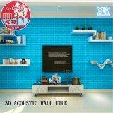 Azulejo auto-adhesivo acústico decorativo del PVC 3D para el sitio de KTV
