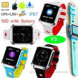 Nuevo diseño resistente al agua IP67 Kids rastreador de GPS Y3