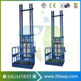 Deux rails de guidage de marchandises de levage vertical
