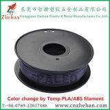 Hote la vente de changement de couleur de l'ABS/PLA filament pour la 3D IMPRESSION