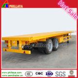 Aanhangwagen van de Vrachtwagen van de Container van het Platform van tri-assen de Semi met Staken