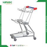 Supermarkt-Einkaufen-Laufkatze mit zwei Körben