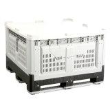 1162 Austrália uso agrícola grande caixa de paletes de plástico ventilado colapsável