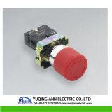 Xb2-BS de 40 mm de la seta de parada de emergencia con llave a prueba de agua eléctrico Empuje el interruptor de botón IP40 / IP65