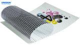 Le côté simple de Microperforado Vinilo d'approvisionnement d'usine voient le collant à sens unique de vinyle de visibilité