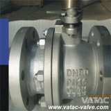 Vávula de bola llena del puerto R.F del engranaje lateral de la entrada del acero de molde A216 Wcb