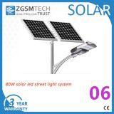 Pôle d'usine Zgsm 8m 80W à LED lampe solaire Outdoor 40W-120W