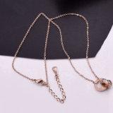 La mode nouvelle bague à diamant collier de la chaîne de gros collier titane créatif de la femme