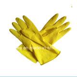 Водонепроницаемый Желтый латекс домашних хозяйств резиновые сад очистка кухонные рукавицы