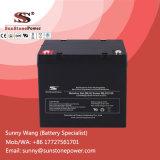 Bateria de gel selado recarregável 12V 55ah para gerador de energia eólica