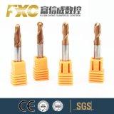 O carboneto de sólido Fxc 4 flautas ponta esférica Mills para plástico e acrílico