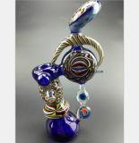 7.09 Zoll blaue Glasrohr-Filter-Tabak-Rauch-Rohr-