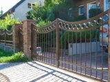 Практические жилых безопасности ворота из кованого железа