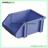 Armazenagem de plástico de volta travando a caixa de ferramenta para partes separadas
