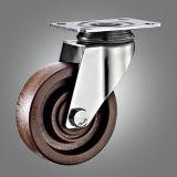Roulette pivotante à température élevée sans frein
