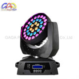 36 * RGBW 10W High Power LED de 4-en-1 con la función de Zoom moviendo, Faro