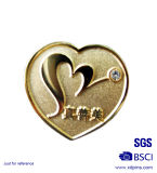 Distintivo a forma di di Pin dell'alto di lustro del metallo cuore di carità (XD-0707-15)