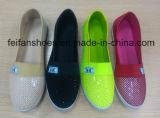 熱い販売の女性の余暇の注入のズック靴の偶然靴(HP-3)
