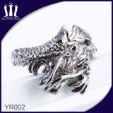 anello d'acciaio di titanio del Mens del Gecko 316L