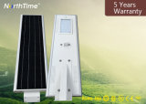 최고 광도 리튬 건전지를 가진 통합 LED 태양 정원 빛