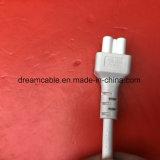 1,2 м белый Ce утверждения Европейский стандарт питания переменного тока с помощью шнура питания IEC C5