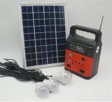 10W 6V Sistema de Energía Solar con 3W Lámpara Solar con el reproductor de radio FM de la luz de LED Solar