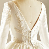Manchon long satin robe de mariée robe de mariage de cristal