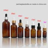 botella de petróleo esencial del vidrio 5-100ml con precio de fábrica del cuentagotas