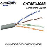 UTP Cat 5e de cobre desnudo Cable de red para cámaras de seguridad (CAT5EU305B)