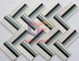 Wの形ライトEmperadorの大理石の組合せのガラス台所モザイク(CFS719)