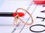 De gepersonaliseerde Creatieve Ringen van de Ritssluiting, Roestvrij staal namen Gouden Ringen toe