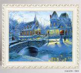 Festes Holz-Bilderrahmen-europäische Art-dekorativer Rahmen-Ausgangsdekor