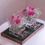 Kundenspezifischer freier Acrylluxuxrosen-Blumen-Geschenk-Kasten mit Kappe