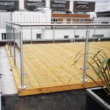 ステンレス鋼の屋外のデッキの柵