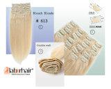 Зажим в человеческих волосах Extension Best Quality #613 Remy Hair 100g/120g/160g Per Pack, Clips Lbh 120